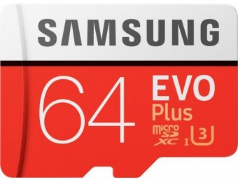 60% off Samsung EVO Plus 64GB microSDXC UHS-I Memory Card
