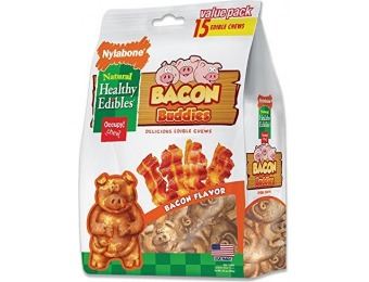 63% off Nylabone Healthy Edibles Natural Bacon Dog Treats