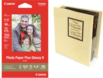 $190 off Photo Paper Plus Glossy II 4x6 Sheets (900 Sheets Free)