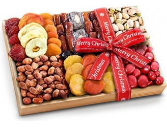 30% off Christmas Ribboned Sweet Extravagance Dried Fruits and Nuts Tray