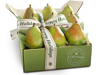 43% off Happy Holidays Imperial Comice Pears Fruit Gift