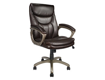 $100 off TUL EC 600 Executive Brown Leather Chair