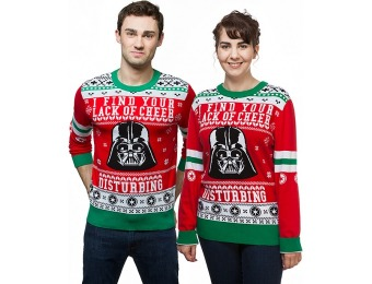 50% off Star Wars Darth Vader Lack of Cheer Holiday Sweater
