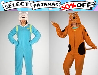 50% off Costume Character Adult Pajamas