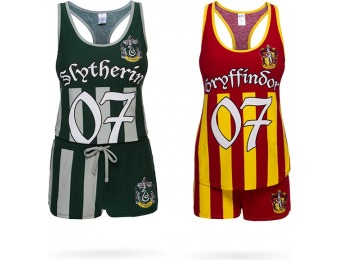 33% off Harry Potter Quidditch Jersey Tank and Shorts Sleep Set