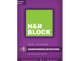 $10 GC + $21 off H&R Block Tax Software Deluxe 2017 w/ State