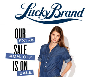 Extra 40% off Sale Styles for Men & Women at Lucky Brand