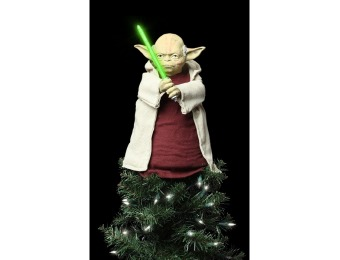 80% off Star Wars Lighted Yoda Tree Topper