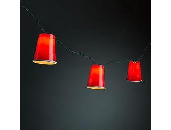 80% off Red Party Cup String Lights