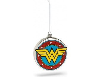70% off Hallmark DC Wonder Woman Shield Blown Glass Ornament