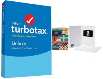 $10 GC + 20% off TurboTax Deluxe 2017 Tax Software Federal + Efile