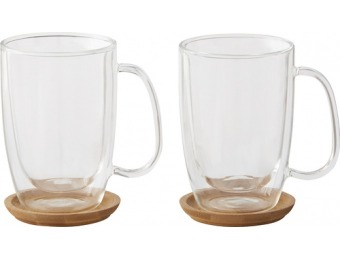 55% off Caribou Coffee Double-Wall Coffee Mugs (2-Pack)