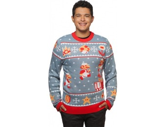 50% off Super Mario Bros. Holiday Sweater