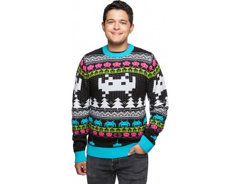 50% off Space Invaders Holiday Sweater