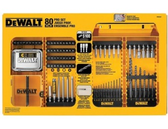 50% off DEWALT Pro 80-Piece Screwdriver Bit Set DW2587CC