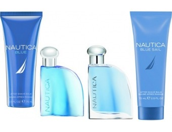 70% off Nautica Omni Blue and Blue Sail Men's Fragrance Gift Set