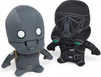 70% off Star Wars: Rogue One Plushes - K-2SO or Deathtrooper