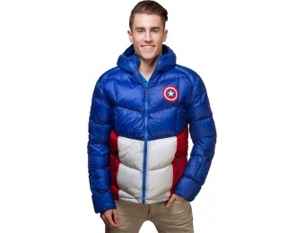 83% off Captain America Down Jacket