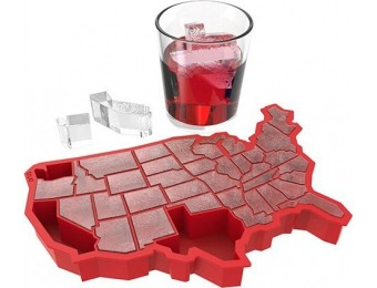 "63% off TrueZoo ""U Ice of A Red Silicone"" Ice Cube Tray"