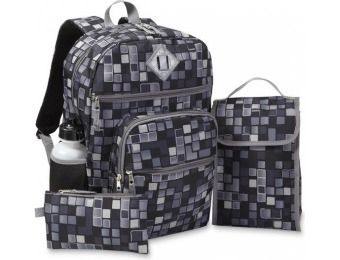 69% off Geometric Boys' Backpack, Lunch Bag, Pencil Case & Water Bottle