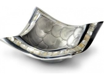 "79% off Julia Knight Classic Pagoda Bowl, 6.5"", Platinum, Silver"
