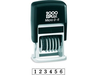 84% off 2000Plus Self-Inking Number Stamp