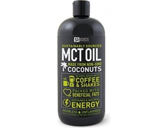 50% off Premium MCT Oil derived only from Coconut Oil - 32oz