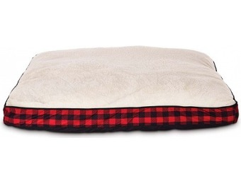 70% off You & Me Tan and Red Buffalo Check Lounger Pet Bed