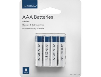 70% off Insignia AAA Alkaline Batteries (8-Pack)