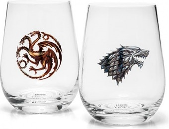 67% off Game of Thrones Stemless Wine Glass Set of 4