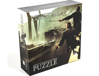 80% off Dishonored 2 Corvo at the Edge of the World 750pc Puzzle