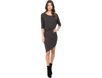 75% off Splendid Heathered Slub Jersey Asymmetrical Hem Dress