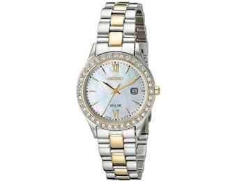 56% off Seiko Women's Swarovski Crystal-Accented Solar Watch