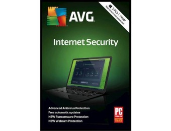 68% off AVG Internet Security (3-Devices) (1-Year Subscription)
