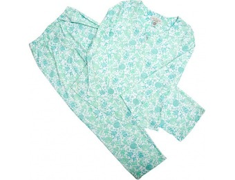 75% off Karen Neuburger Long Sleeve Henley Print Pajama Set