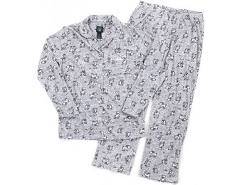75% off Laura Ashley Long Sleeve Scottie Dog Print Pajama Set