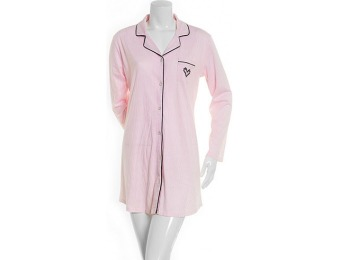 75% off Laura Ashley Long Sleeve Striped Sleepshirt