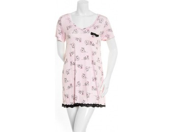 81% off Laura Ashley Novelty Printed Sleepshirt with Lace Trim