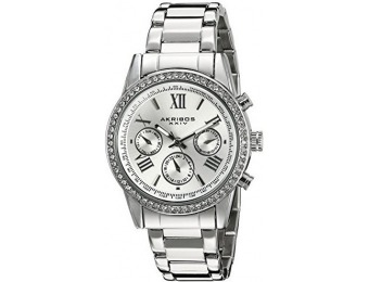 96% off Akribos XXIV Women's Crystal Accent Three Hand Watch