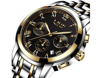 80% off Luxury Steel Band Men's Wrist Watch with Chronograph