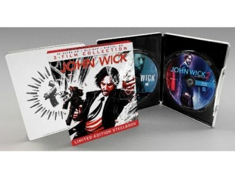 34% off John Wick/John Wick: Chapter 2 [SteelBook] 4K Blu-ray