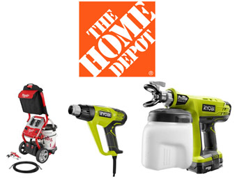 Up to 50% off Ryobi & Milwaukee Paint Tools at Home Depot