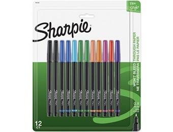 68% off Sharpie Pen, Fine Point, Assorted Colors, 12-Count