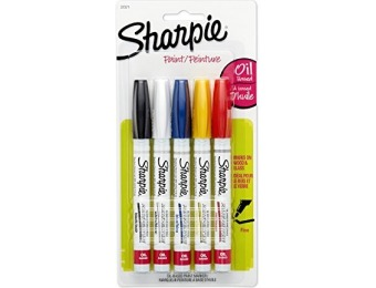 47% off Sharpie Oil-Based Paint Markers, Assorted Colors, 5 Count