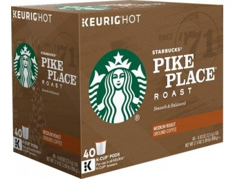 31% off Starbucks Pike Place K-Cups (40-Pack)