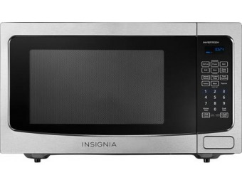 $80 off Insignia 1.6 Cu. Ft. Family-Size Microwave - Stainless steel