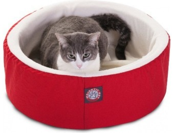 82% off Majestic Pet Products Red Cat Cuddler Pet Cat Bed