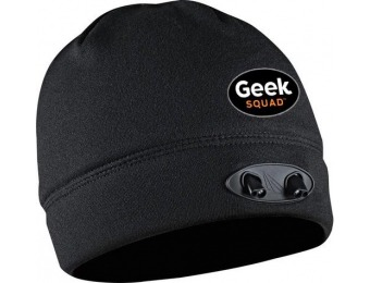 45% off Panther Vision Geek Squad POWERCAP LED Fleece Beanie