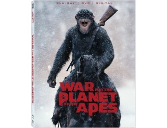 50% off War For The Planet Of The Apes (Blu-ray + DVD + Digital)