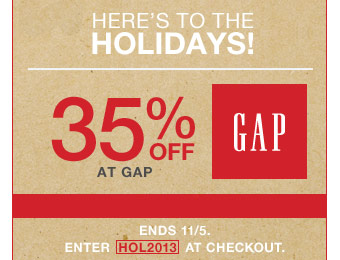 Save 35% off Your Purchase at Gap.com